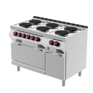 Kooktafels en Fornuizen elektrisch met kookplaten