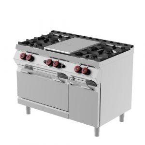 Kooktafels en Fornuizen gasverwarmd met Hotplate